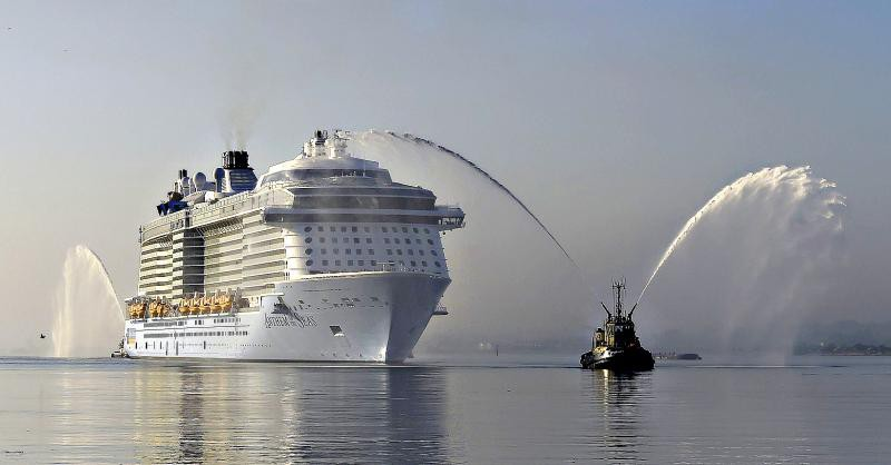 Anthem of the Seas arrives in Southampton...The world's joint th
