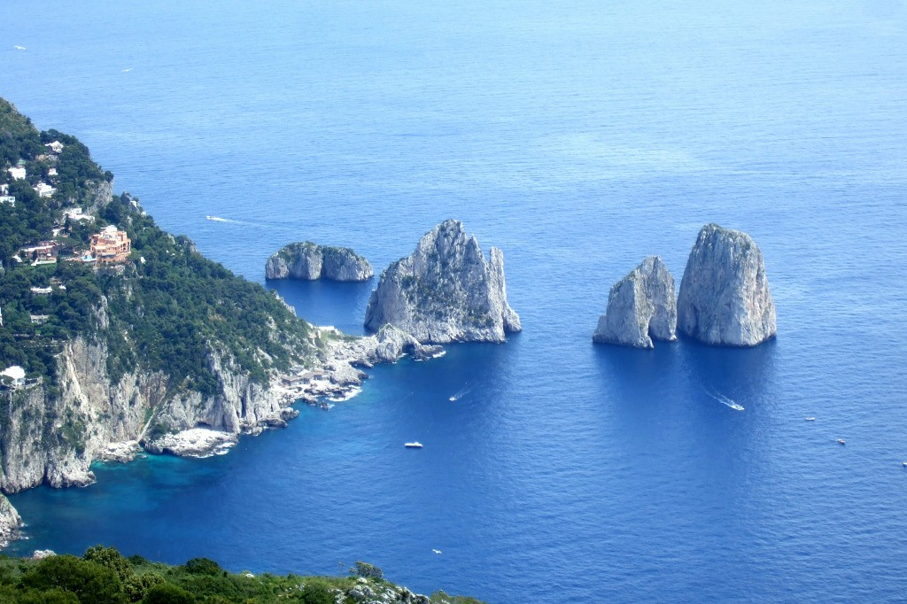 Amalfi Coast - view from Monte Solaro Chairlift in Capri